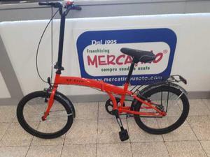 Bicicletta Uomo Pieghevole Xt Erre Rossa Posot Class