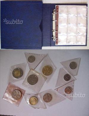 Lotto 10 monete Repubblica Italiana + Raccoglitore