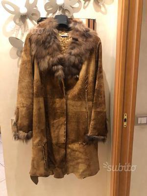 Cappotto montone con pelliccia di lapin  b3290e1a716