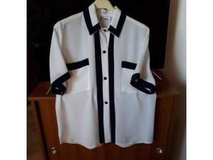 Camicia maniche corte in viscosa taglia 50