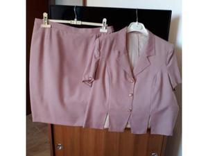 Completo gonna+giacca, in cotone, taglia 50