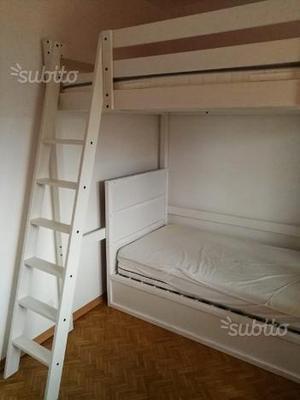 Letto A Castello Ikea Bianco.Letto A Castello Ikea Posot Class