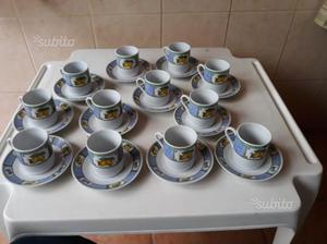 Set 12 tazze caffè con piattini