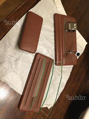 Set per scrivania e ufficio in pelle