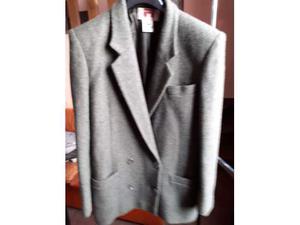Tailleur donna tg. 42, pura lana, color verde scuro