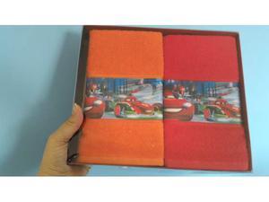 Set Asciugamani Confezione Scatola Cars per scuola o casa
