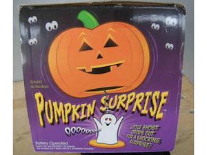 Zucca di Halloween con Fantasma a sorpresa