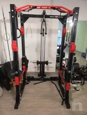 Rack palestra completo di lat machine pulley barra trazioni