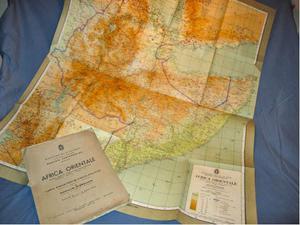 Carta geografica originale Africa Orientale Italiana