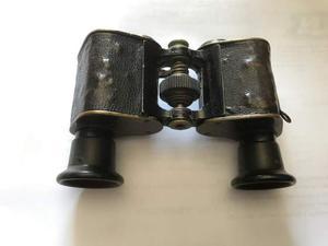 Antico cannocchiale piccolo con astuccio in pelle