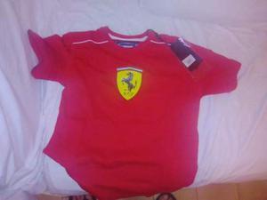 T-shirt Scuderia Ferrari kid new central scudetto 9/10 y