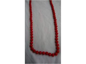 Collana di Corallo rosso e gancio oro 18k