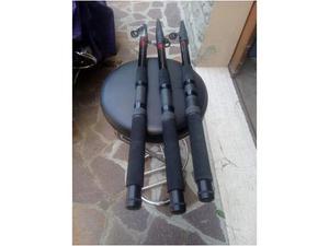 3 canne da pesca pallida jc  mt. 30€ a canna nuove