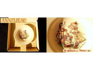 ANNELIESE vintage 80 piattino ceramica collezione = Holly