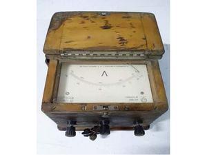 Dd 15 antico voltmetro con scatola in legno
