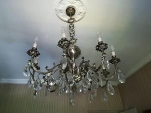 Plafoniere In Cristallo Di Boemia : Lampadario di bronzo e cristallo boemia posot class