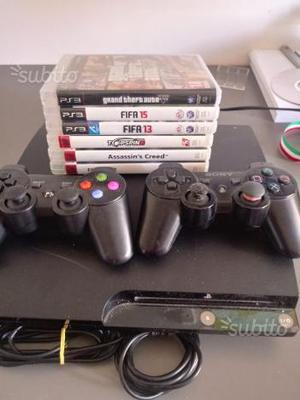 Ps3 con 2 joystick e 6 giochi
