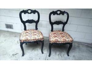 Antica coppia sedie Luigi Filippo