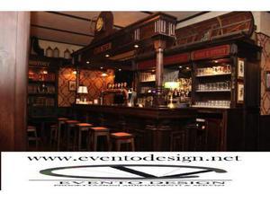Bancone mescita in legno per pub