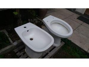 Coppia di sanitari wc + bidet marca duravit