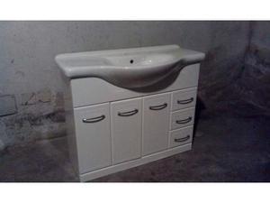 Mobile bagno con lavabo in ceramica, 3 ante, 3 cassetti