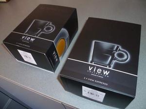 Nespresso 2 Set da 2 tazzine in vetro View NUOVI