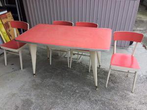 Tavolo e 4 sedie anni 50 vintage originale
