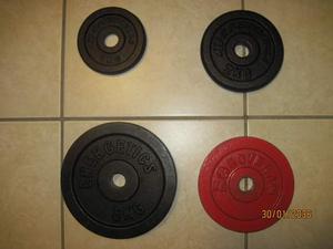 Dischi in ghisa per palestra da kg. 1, 2 e 5 foro da cm. 2,5