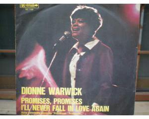 I'll never fall in love again di dionne warwick 45 giri del