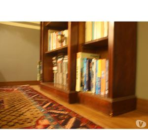 libreria inglese in legno massello