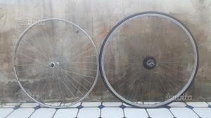 Coppia ruote epoca bici corsa eroica campagnolo 28
