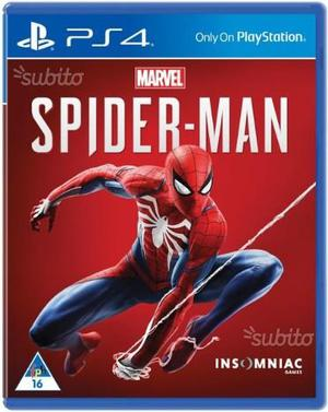 Ps4 gioco Marvel spider man
