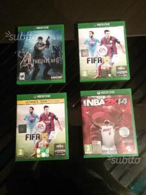 Lotto 4 giochi originali Xbox One