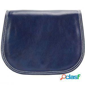 Borsa a spalla ines blu scuro made in italy produzione di