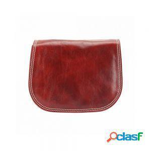 Borsa a spalla ines rosso chiaro made in italy produzione di