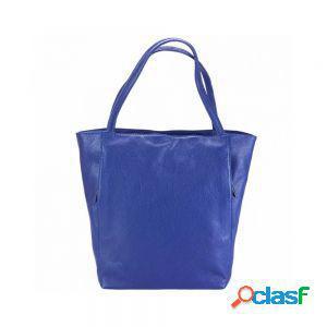 Borsa a spalla melie blu elettrico made in italy produzione