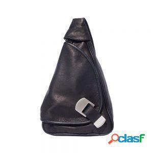 Borsa a zaino trasformabile in borsa a tracolla nero made in