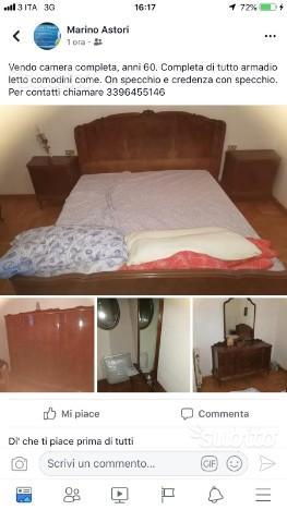 Camera da letto completa anni 40 posot class - Vendo camera da letto completa ...