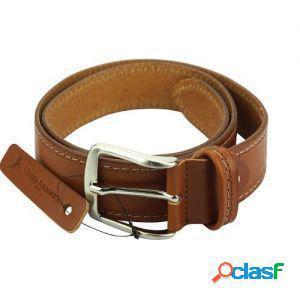 Cintura remo 40 mm cuoio/115 cm made in italy produzione di
