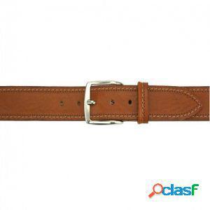 Cintura remo 40 mm cuoio/120 cm made in italy produzione di