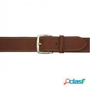 Cintura remo 40 mm marrone/120 cm made in italy produzione