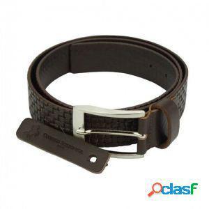 Cintura ruggero 40 mm testa di moro/125 cm made in italy