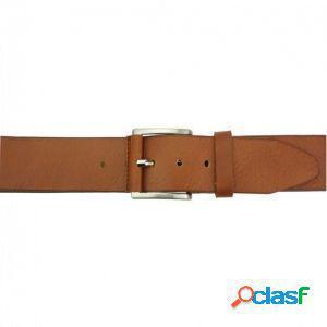 Cintura saverio 40 mm cuoio/120 cm made in italy produzione