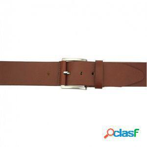 Cintura saverio 40 mm marrone/120 cm made in italy