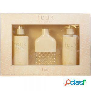 Fcuk - friction her confezione regalo100 ml edt 250 ml