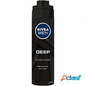 Gel da barba nivea for men deep shaving gel 200 ml black