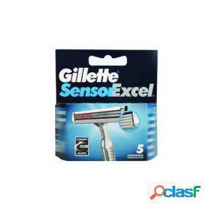 Gillette lame di ricambio a 5 lame per rasoio sensor excel 1