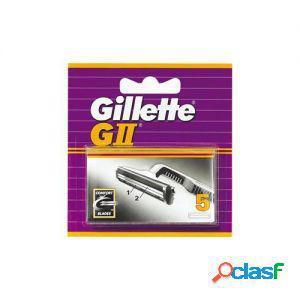 Gillette lame di ricambio per rasoio g2 gii 1 confezione da