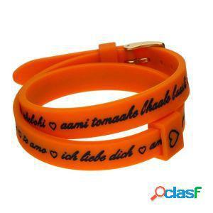Il mezzo metro bracciale donna i love you gold arancione