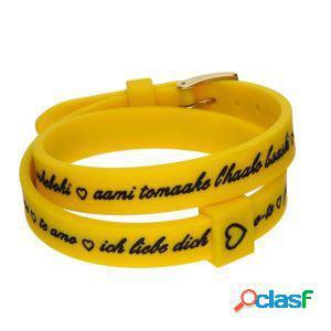 Il mezzo metro bracciale donna i love you gold giallo
